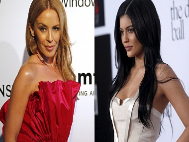 Kylie Minogue (left) and Kylie Jenner.