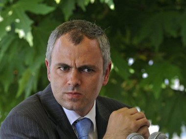 Former chief minister of Jammu and Kashmir Omar Abdullah. AFP