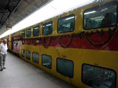 An Indian Railways train. AFP