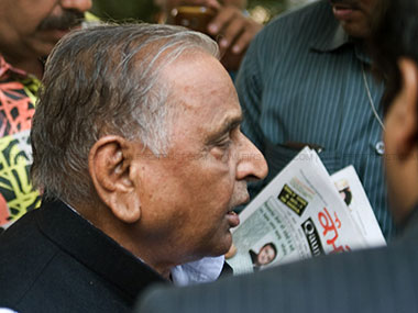 Samajwadi Party chief Mulayam Singh Yadav. Image courtesy: Naresh Sharma/Firstpost