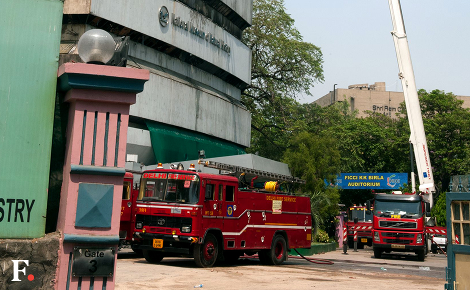 The flames have been completely doused and other buildings in FICCI auditorium are safe. Naresh Sharma/Firstpost