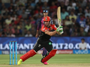 AB de Villiers plays a shot against Rising Pune Supergiants. BCCI