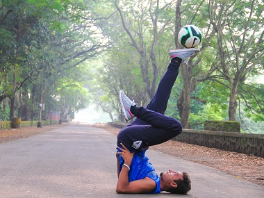 Aarish Ansari took to freestyle football after suffering an accident. Rashi Kakkar
