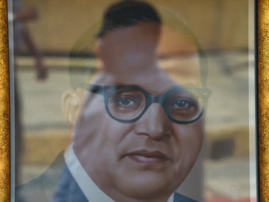 A photo of Dr Ambedkar. AFP