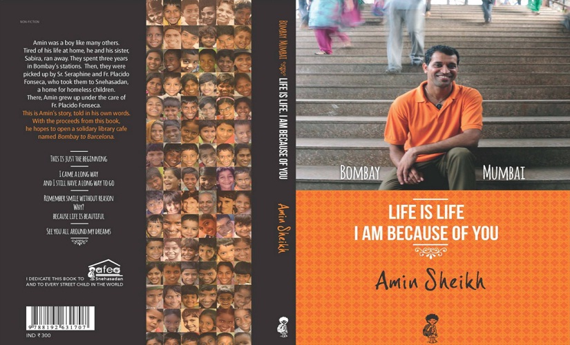 The cover of Amin's Book 'Life Is Life: I Am Because of You'