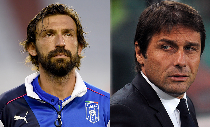 "Pirlo described Conte as a ""beast with two wives""."