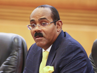 File photo of Gaston Browne, Antigua and Barbuda Prime Minister. Getty Images