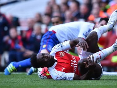 Arsenal's Danny Welbeck in action against Crystal Place in the Premier League. AFP