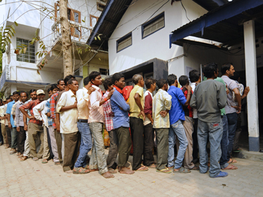 Voting in Assam. AFP