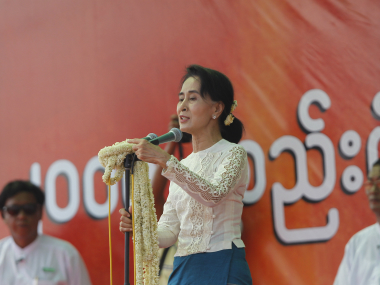 File photo of Aung San Suu Kyi. Reuters