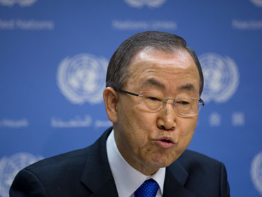 UN chief Ban Ki-moon. AP