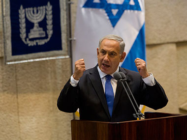 A file photo of Benjamin Netanyahu. AP
