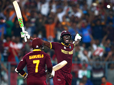 File picture of Carlos Brathwaite (R). Getty