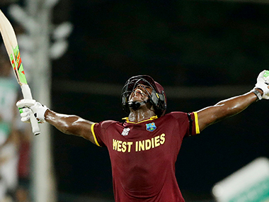 Carlos Brathwaite smashed four sixes off the last over to take West Indies to a famous win. Solaris images