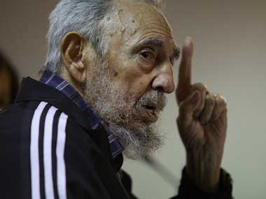 A file photo of Fidel Castro. AP