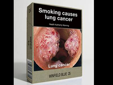 Pictorial design on cigarette packets. AFP