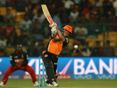 Sunrisers Hyderabad skipper David Warner. Sportzpics