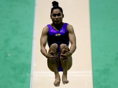 Dipa Karmakar of India competes on the vault. Getty Images