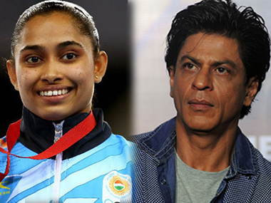 Dipa Karmakar and Shah Rukh Khan