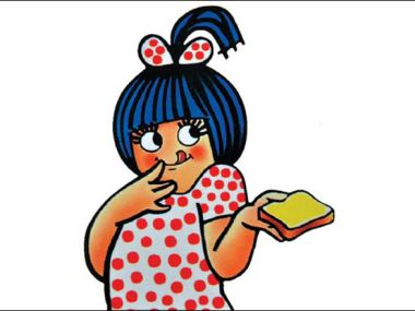 Eustace Fernandes, the Amul girl.