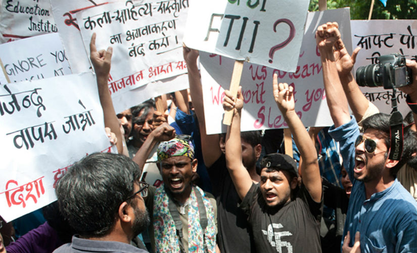 The FTII protests took place against the appointment of Gajendra Chauhan as FTII chairman. Naresh Sharma/Firstpost