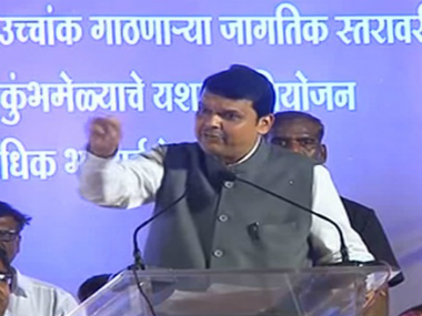Maharashtra Chief Minister Devendra Fadnavis speaking during a rally in Nashik. YouTube