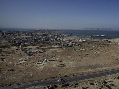 A view of Gwadar Port — a deep-sea port developed jointly by the Pakistan and China — which is the key to the trade portion of the China Pakistan Economic Corridor. AP
