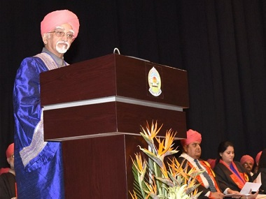 Vice President Hamid Ansari at the 16th Convocation of the University of Jammu. Image courtesy: PIB