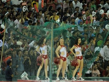 Cheerleaders at an IPL match. AFP