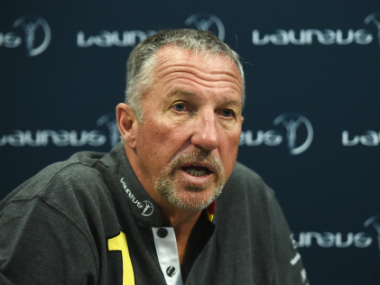 Former England cricketer Ian Botham speaking at the Laureus World Sports Awards. Getty Images
