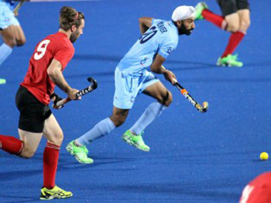 Indian hockey team in action against Canada. Image source: Azlan Shah Cup website.