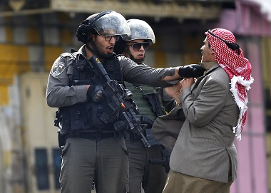 A file photo of a Israel - Palestine protest. AP