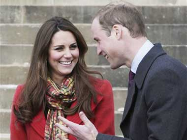 Kate Middleton and Prince William. AP