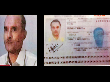 File image of Kulbhushan Jadhav and his passport. PTI