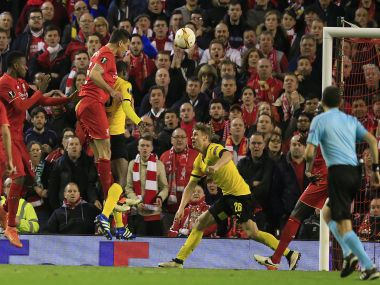 Liverpool was facing elimination until Dejan Lovren's header earned a stunning win. AP