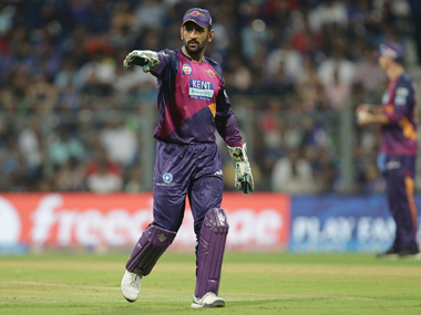 Captain MS Dhoni during Pune Supergiants match against Mumbai Indians. Sportzpics