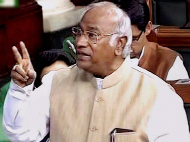 Mallikarjun Kharge. File photo. PTI