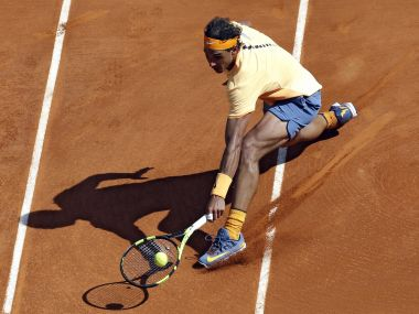 Nadal had to save 15 break points against Dominic Thiem. AP