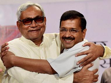 File image of Nitish Kumar and Arvind Kejriwal. PTI