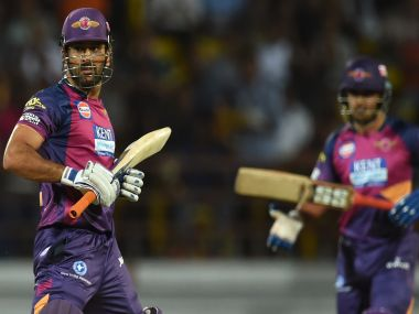 Rising Pune Supergiants skipper MS Dhoni (left). AFP