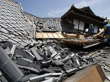 The earthquake in Japan. AP