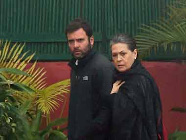 File image of Rahul and Sonia Gandhi. PTI