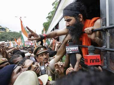 Ramdev Baba. File photo. AP