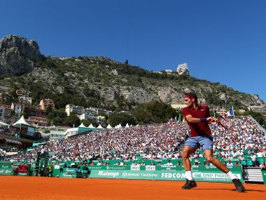 Roger Federer at the Monte Carlo Rolex Masters. Getty Images