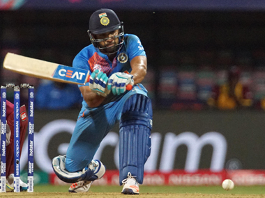 Rohit Sharma in action during the semi-final against West Indies on Thursday. Solaris Images