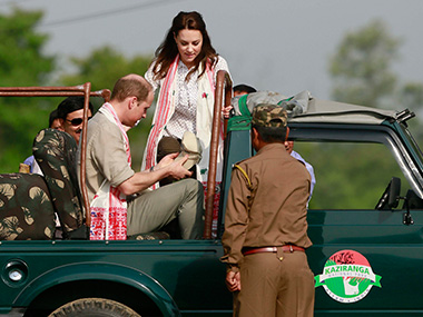 Prince William and Duchess of Cambridge visit the Kaziranga National Park. AP