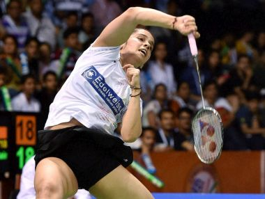 Saina Nehwal plays against Li Xuerui of China during the Yonex-Sunrise India Open 2016. PTI