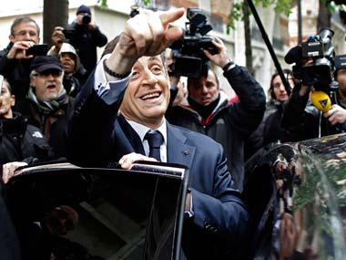 A file photo of Sarkozy. AP