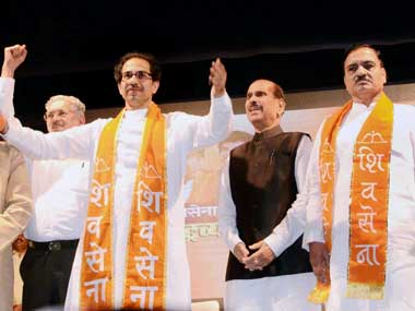 A File photo of a Shiv Sena rally.