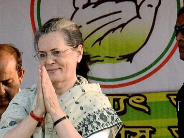 Congress President Sonia Gandhi during an election campign rally in Srrerampore, Hooghly on Tuesday. PTI